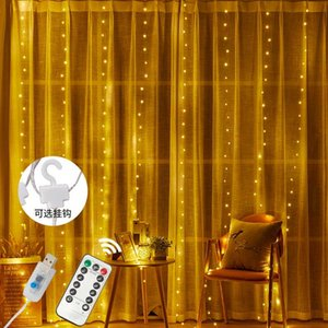New USB Curtain Light Copper Wire Light Remote Control 3*3 Meter Room Christmas Day LED Decoration String