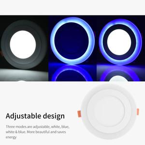 Soffitto LED rotondo Stock UK chiaro dimmerabili Blu Bianco 6 Flush + 3W di montaggio per pannelli Downlight per Soggiorno Uso Domestico
