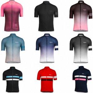 Rapha Sommer schnell trocken Kurzarm Radfahren Kleidung für Männer und Frauen Tops Strap Shorts Custom Road mit Eigenantrieb Team Edition q0Ea #