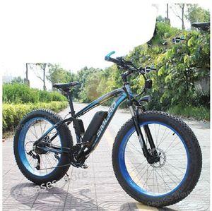 26 inç elektrikli bisiklet 1000W 17.5Ah Elektrikli Sahili Bisiklet 4,0 yağ lastik Bisiklet 48V Erkek Dağ Bisikleti Kar ebike e bisikletleri