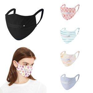 Novas máscaras zipper rosto respiráveis ultra-fina malha única camada ciclismo anti-UV Máscara de poeira XD23744 reutilizável