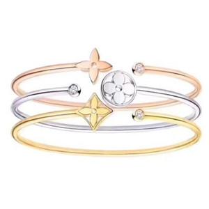 Brand VV Luxury Designer Jewelry Women Bracelet High Quality Titanium Plated 14K Gold Crystal Charm Bracelet Best Christmas Gift