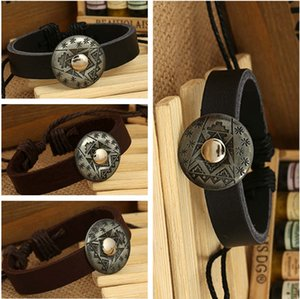 DHL epacket Original leather bracelet export vintage woven cowhide bracelet DJFB419 ID, Identification jewelry bracelets