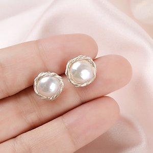 ASHIQI Handmade Real 925 Серебряные серьги Stud Sterling для женщин Природные пресной воды Pearl Jewelry Gift