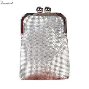 2020 New Women Creative Sequin Phone Bag Magic Color Evening Satin Bag Shoulder Cross Bag Drop Shipping Bolso Mujer