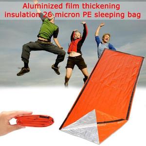 Outdoor-Notfallschlafsack-Isolierung und Ausrüstung Das Leben Bag Speichern Notfall Umschlag Schutz Sleeping Z3O6