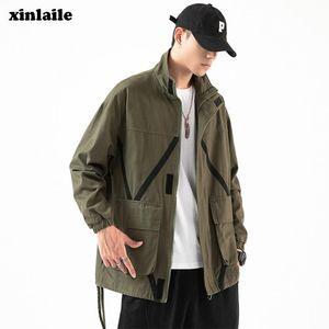 Vestes pour hommes Spring and Automne Veste Baseball Uniforme Lâche Grand Taille Casual Windbreaker Marque Manteau de mode