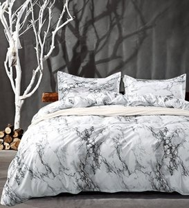 (5 sizes) Brief Marble Lines Duvet Cover With Pillowcase Set Summer Marble pattern Bedding Set Single (no sheet)