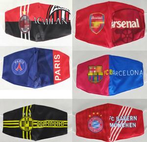 Fútbol Impreso lavable Madrid Fútbol máscara de productos para la protección de la familia 2020 máscaras de París un momento de celebración extraíble