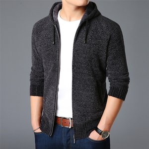2020 New Fashion Brand Sweaters Men Cardigan Hooded Slim Fit Jumpers Knitting Thick Warm Winter Korean Style Casual Clothing Men MX200711