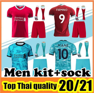 2020 2021 Adult Kit Fußball-Jersey rote Auswärts Blue Shirt 20 21 Männer Fußball Uniformen kit + Socken