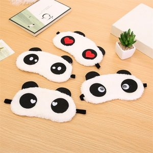 Panda Sleeping Eyeshade Cute Cartoon Style Eyeshade Plush Fabric Blindfold sleeping eye mask Cover for Women MenTravel