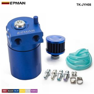 Engines & Components Engine EPMAN Sport Universal Aluminum Oil Catch Can Reservoir Tank 400ml + Breather Filter TK-JYH08