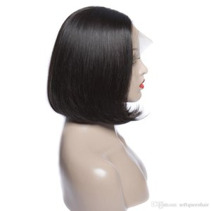 Short Bob Wigs Perivian Virgin Hair Straight Lace Front Human Hair Wigs For Black Women Swiss Lace Front Wigs soft Hair