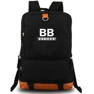 BB records backpack Black Butter daypack Popular music computer schoolbag Leisure day pack Sport school bag Outdoor rucksack