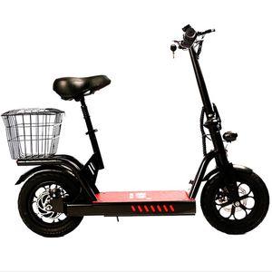 Elektrische Fahrräder Erwachsene mit Sitzkorb Zwei Räder Elektro E Bike faltbarer elektrischer Roller 400W 48V Bereich 80KM