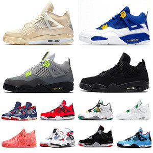 top quality nike air jordan retro 4 Travis Scott IV Bred 4 cool Shoes 4s kaws Grey Basquete Mens JUMPMAN Houston Oilers Cactus Jack Tattoo Hot perfurador Womens Sports Sneaker