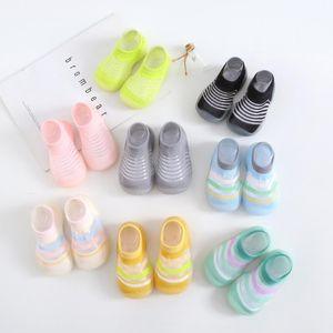 Newborn Baby First Walkers Summer Toddler Outdoor Floor Socks Infants Boys Girls Non-Slip Mesh Breathable Shoes Soft Bottom
