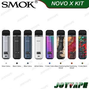 100% ursprünglicher SMOK NOVO Pod System-Starter-Kit 450mAh 2 ml-System Kein Feuer Schlüssel mit herrlichem Cobra Aussehen Tragbarer Keine Leckluftgetriebene