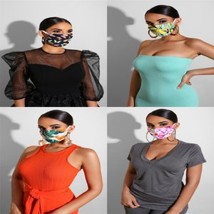 Fashion Den 3D Printed Fashion Anti Dust Face Mask Cotton Party Mouth Mask With Filter Reusable Adjustable For Unisex Monday To Sunday#696