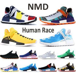 NMD Human Race кроссовки Breath Хотя вдохновение пакет Black BBC Cotton Candy Nerd Синий Ху Pharrell Желтый солнечный Красный PW Мужская обувь