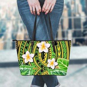 FORUDESIGNS polynesischen Traditionelle Tribal Blumenmuster Frauen-Handtaschen PU-Leder weibliche Tote Schultertasche Frau Bolsa