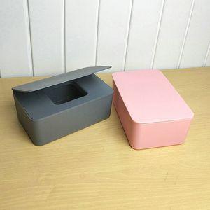 Dustproof Tissue Storage Box Case Wet Wipes Dispenser Holder with Lid for Home Office Desk Car BV789