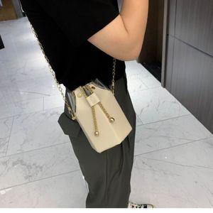 Shoulder Bucket bucket women's New 2020 fashion Korean style chain messenger bag all-match simple shoulder bag
