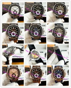 La última versión Boutique de la manera del reloj para hombre del tallado Bisel Casual 316L completamente mecánico automático de correa de caucho de 42 mm Mira los hombres