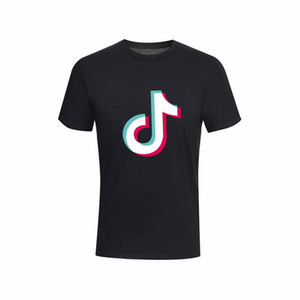 Hommes Femmes New Summer Fashion Casual Tik Tok T-shirts manches courtes O Tops T-shirts en coton col