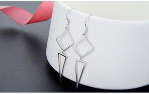 B26 Top quality women's S925 sterling silver drop earrings SS925 earring women's silver earring tassels earrings dangles fringe earrin