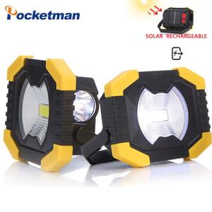 Luz Portátil Energía Solar Spotlight Luz de trabajo USB recargable incorporada de la batería 2400mAh para acampar Reparación