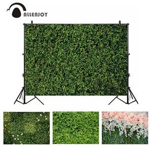 Fundo Allenjoy photocall pano de fundo verde folhas de grama fotografia primavera do casamento da natureza da foto da flor bandeira photobooth