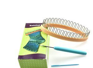 3Pcs / set Strickwerkzeug Weave Loom Kit für Schaldecke Hat Socken Marker Garn Knitter Knitting Loom DIY Sewing Craft
