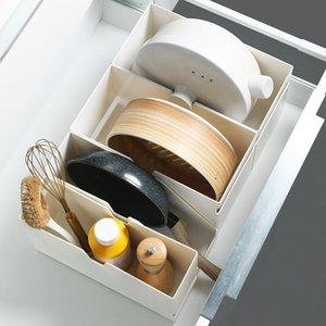 Multifunctional Ins Desktop Storage Box Plastic Household Refrigerator Sorting Kitchen