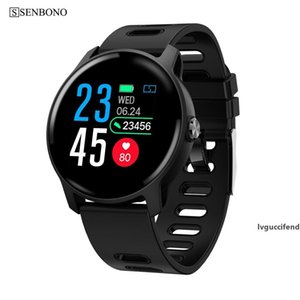 Men Smart Watch S08 IP68 Waterproof Fitness Tracker Heart Rate monitor Smartwatch Women Clock for android IOS Phone