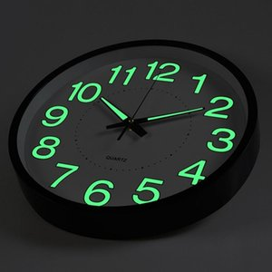 Luminous Wall Clock Quartz Plastic Wall Clock Modern Design For Bedroom Living Room Glowing In The Dark Home Decor