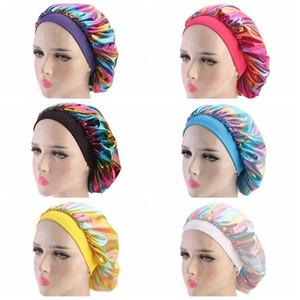 مسلم النساء على نطاق واسع تمتد تنفس باندانا ليلة النوم العمامة قبعة حك بونيه الكيماوي كاب لوازم اكسسوارات للشعر حزب RRA3379