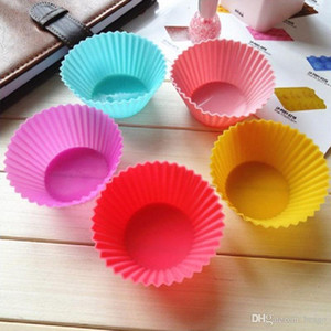 6 Color Silicone Muffin Cake Cupcake Mould Case Bakeware Maker Mold Tray Baking Cup Jumbo Mould DH0158
