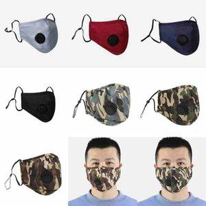 12 stilleri ayarlanabilir yıkanabilir yeniden ağız maskeleri nefes PM2.5 kamuflaj maskeleri CYZ2478 300pcs anti-toz solunum valf maskeleri maske yüz