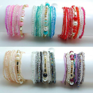 Crystal Charm Beads Bracelets For Women Girls Boho Wedding Jewelry Love Gifts Red Bracelet Set 2020 New Pulseras Femme Bijoux