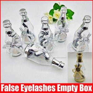 Faux Cils Emballage Boîte Bouteille Dérive Forme Videz acrylique Lash Paquet de cas Cils de stockage Lashes Case Cils Organisateur Box