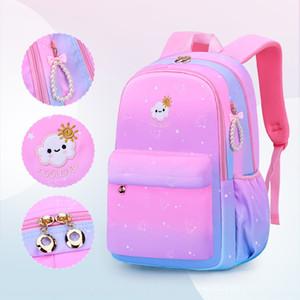 8UXNl 2020 nova escola Bag backpackbackpackbag para os alunos da escola primária da classe 136 estilo coreano mochila gradiente menina menina das crianças on-line