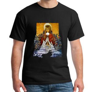 Labirinto T Shirt Cult Film Filme 1980 S Fantasia retro David Bowie Verão homens camiseta Mj