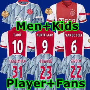 태국 홈 멀리 암스테르담 반 데 크는 NERES 2,020 2,021 타 디치 축구 셔츠 MEN + KIDS은 유니폼을 SETS (20) (21) 아약스 축구 저지 PROMES AJAX