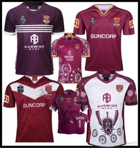 2019 Ligue Nationale de Rugby Queensland 2018 QLD Maroons Malou Jersey Rugby 2019 QLD Maroons ÉTAT D'Jèrriais Rugby