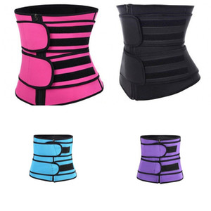 Zipper Waist Trainers Shapewear Body Shaper Women Girdling Band Corset Sweating Belt Adjustable Girdle Fitness Supplies 11 6wa C2