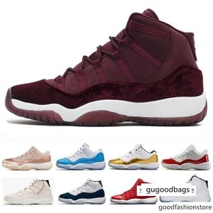 HOT 11 high low le Basketball Shoes 11s men women Gym Red Navy Gum Rose Gold Concord 23 45 Platinum PRM Heiress Navy s j11 Sneakers