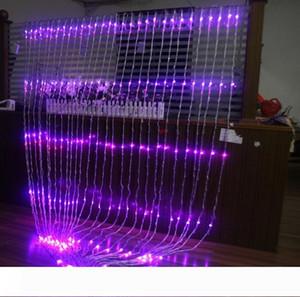 Вверх и вниз водопад огни Свадебный фон свет занавес LED Фея Рождественский фестиваль лампа лампа 6M * 3M светодиодные ходовые огни водопада