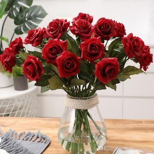 Artificial Rose Flowers Bridal Bouquet for Home Wedding Decor Simulation Rose Flower For Showroom Shopping Bar Party Decorations
